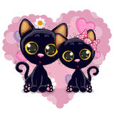 Two Black Kittens Royalty Free Stock Image