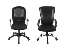 Two black office chair Stock Image