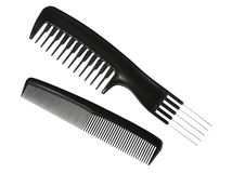 Two black professional combs. Royalty Free Stock Image