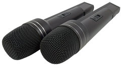 Two Black Radiomicrophones Stock Images