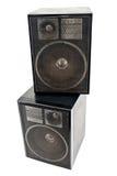 Two black sound speakers Royalty Free Stock Photos