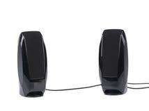 Two black speaker. Stock Photo