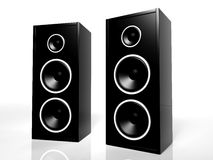 Two black speakers Royalty Free Stock Photos
