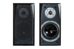 Two black speker Royalty Free Stock Photo