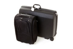 Two black suitcases Stock Photos