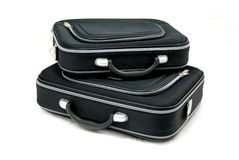 Two black suitcases Royalty Free Stock Image