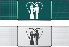 Two blackboards Stock Images