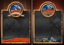 Two Blackboards for Climbing Sport Royalty Free Stock Image