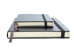 Two blacks notebooks Royalty Free Stock Photos