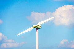 Two Bladed Wind Turbine under Blue Sky royalty free stock image