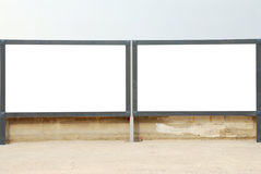 Two Blank billboard. By the street Royalty Free Stock Photos