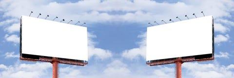 Two Blank billboard Stock Photo