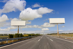 Two blank billboards Stock Images