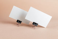 Two blank business card Royalty Free Stock Image