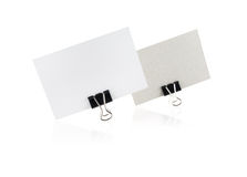 Two blank business card Stock Image