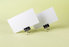 Two blank business card Stock Images