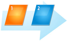 Two Blank business diagram slanted sequence illustration Royalty Free Stock Images