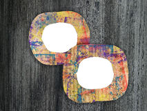 Two blank colorful painted cardboard frames Royalty Free Stock Photos