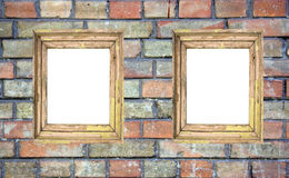 Two blank frames. On the wall Stock Photography