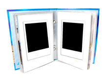 Two blank instant photo frame Royalty Free Stock Images