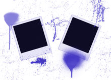 Two blank instant photos Royalty Free Stock Image