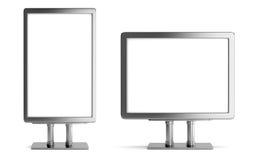 Two blank metallic billboard Stock Photos