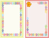 Two Blank note with lots of flowers Royalty Free Stock Photo
