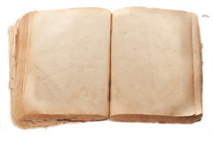 Two blank Pages in ancient Book Stock Photography