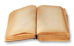 Two blank pages of old books Royalty Free Stock Image