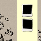 Two Blank Photos on Japanese-Style Background Stock Image