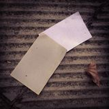Two blank pieces of paper Royalty Free Stock Photo
