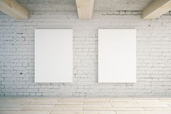 Two blank posters Royalty Free Stock Images