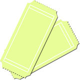 Two Blank Tickets. Fully scalable illustration royalty free illustration