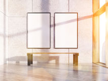 Two blank toned frames Royalty Free Stock Photography