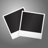 Two blank vector instant photo frames. Template Royalty Free Stock Images