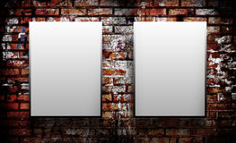 Two blank on wall Stock Photos