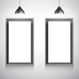 Two Blank White Poster Templates Stock Image