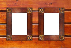 Two blank wooden frames Stock Photography