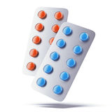 Two blister pack with pills Royalty Free Stock Photography