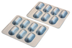 Two Blister Packets of Pills Royalty Free Stock Image