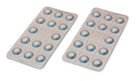 Two Blister Packets of Pills Stock Image