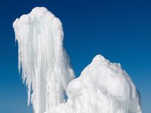 Two blocks of ice Royalty Free Stock Image