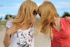 Two blond females Stock Photo