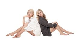 Two blond gils Royalty Free Stock Photos