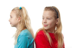 Two blonde girls Stock Images
