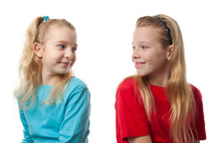 Two blonde girls Royalty Free Stock Photography