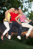 Two blonde and young man Stock Photos