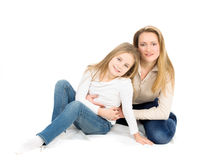 Two blondes: mother and daughter Stock Photography