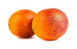 Two blood red oranges Stock Photography