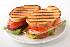 Two BLT sandwiches royalty free stock photos